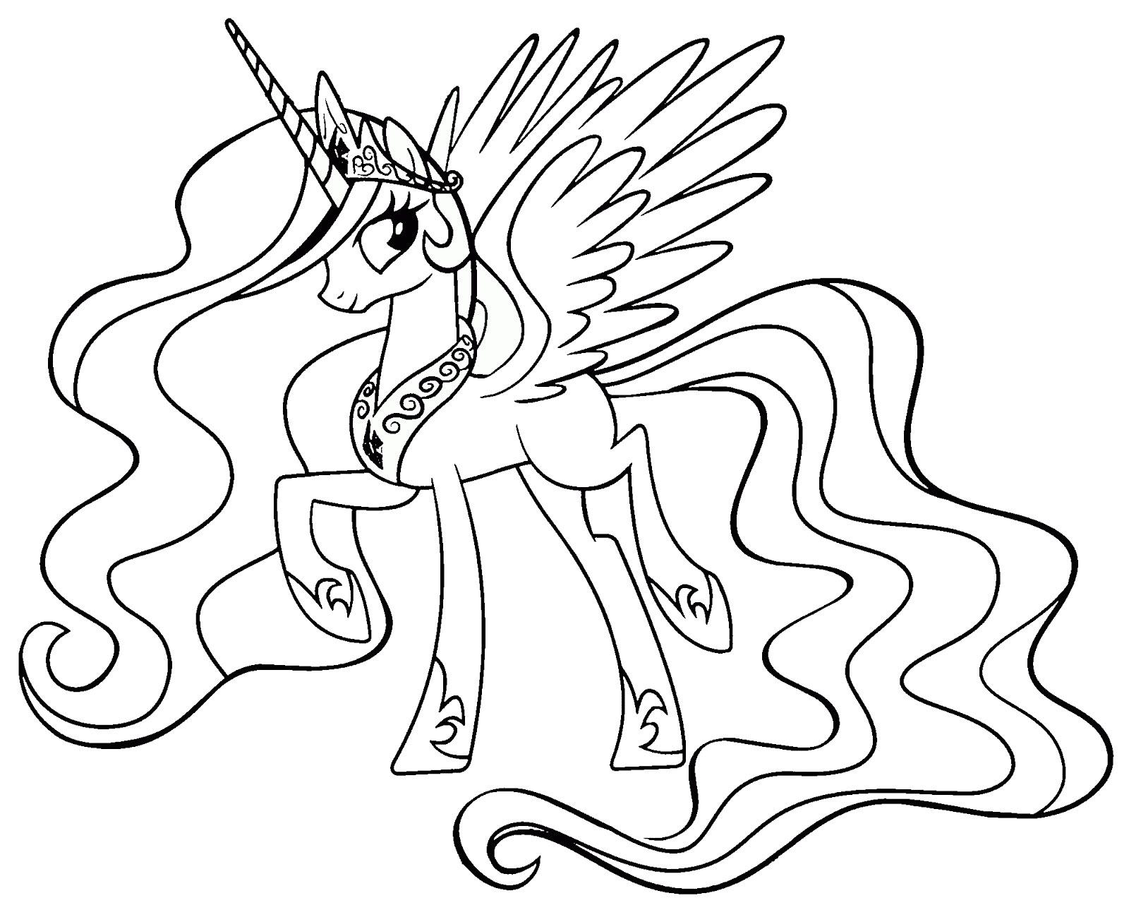 Tranh tô màu ngựa một sừng đẹp nhất