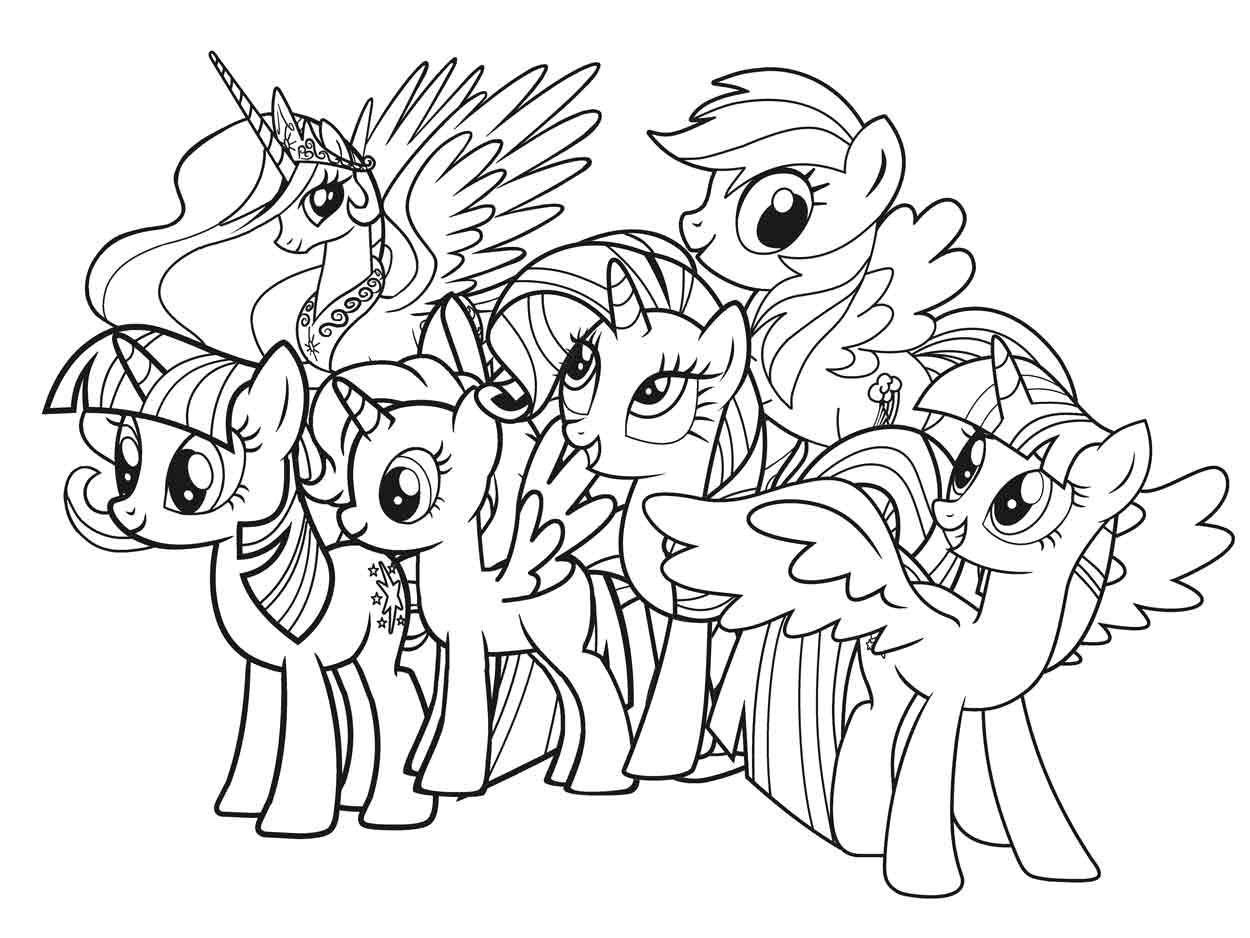 Tranh tô màu ngựa Pony đẹp nhất