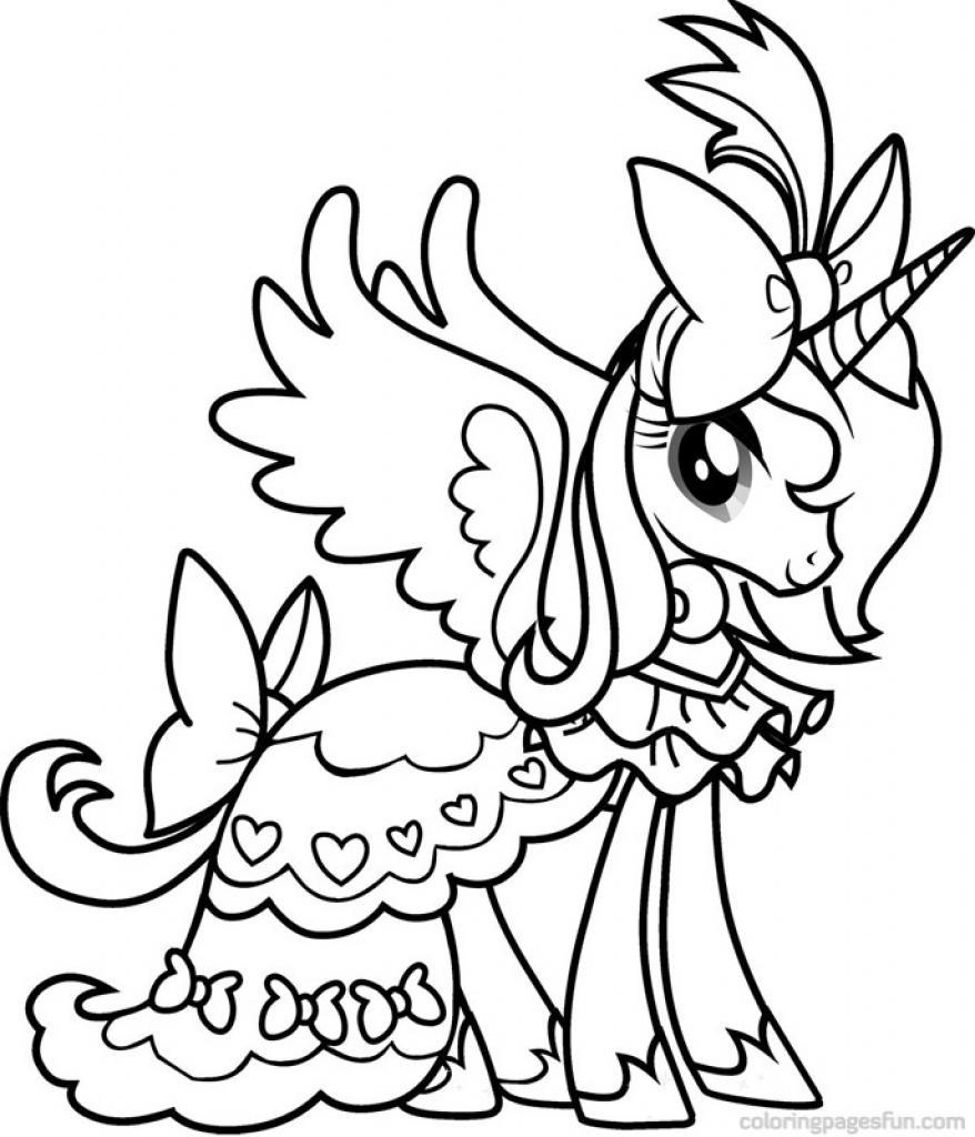 Tranh tô màu ngựa Pony xinh đẹp