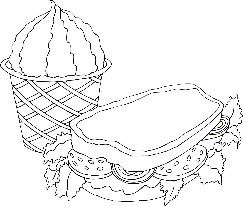 Tranh tô màu thức ăn nhanh