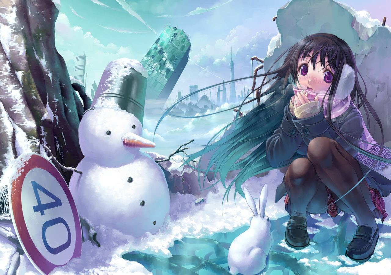 Winter snow anime