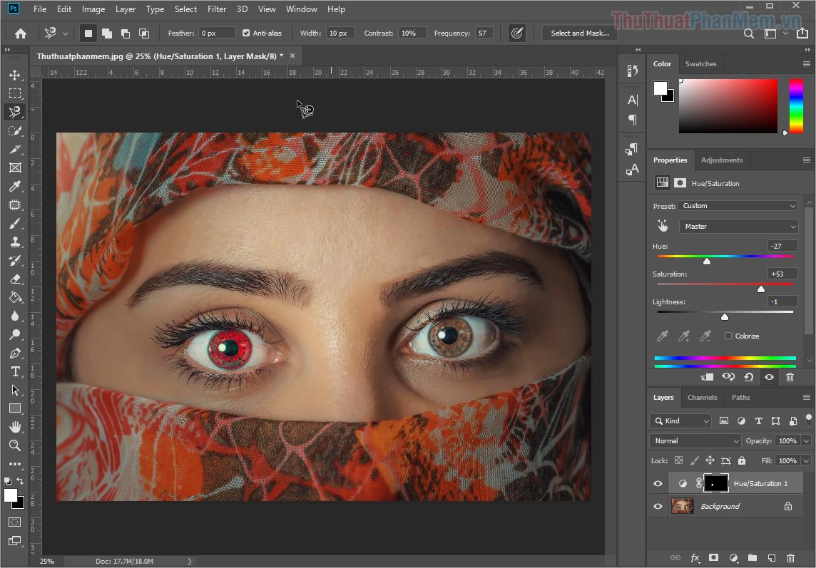 Bạn có thể tùy biến màu của đôi mắt theo ý của bạn