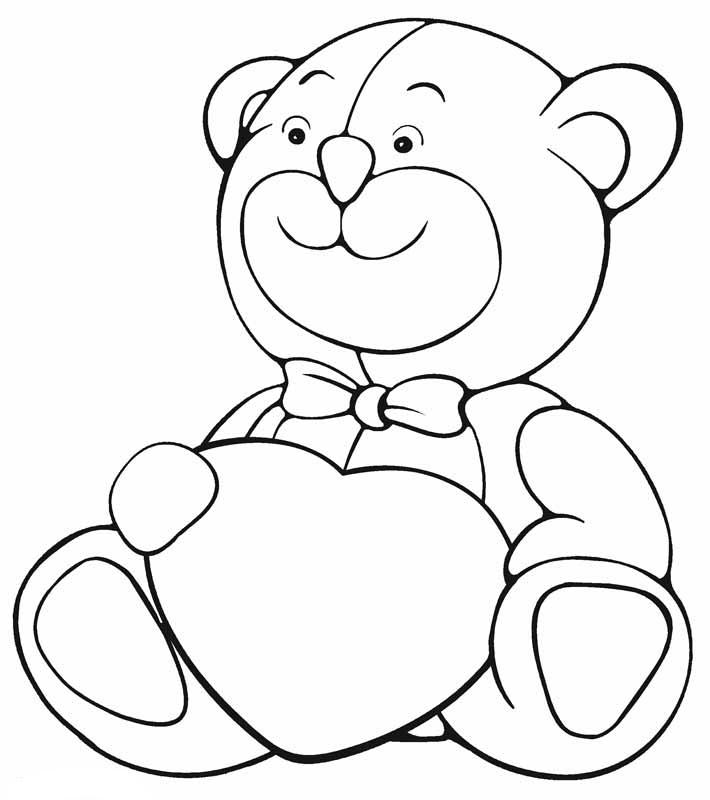Bear Heart Coloring