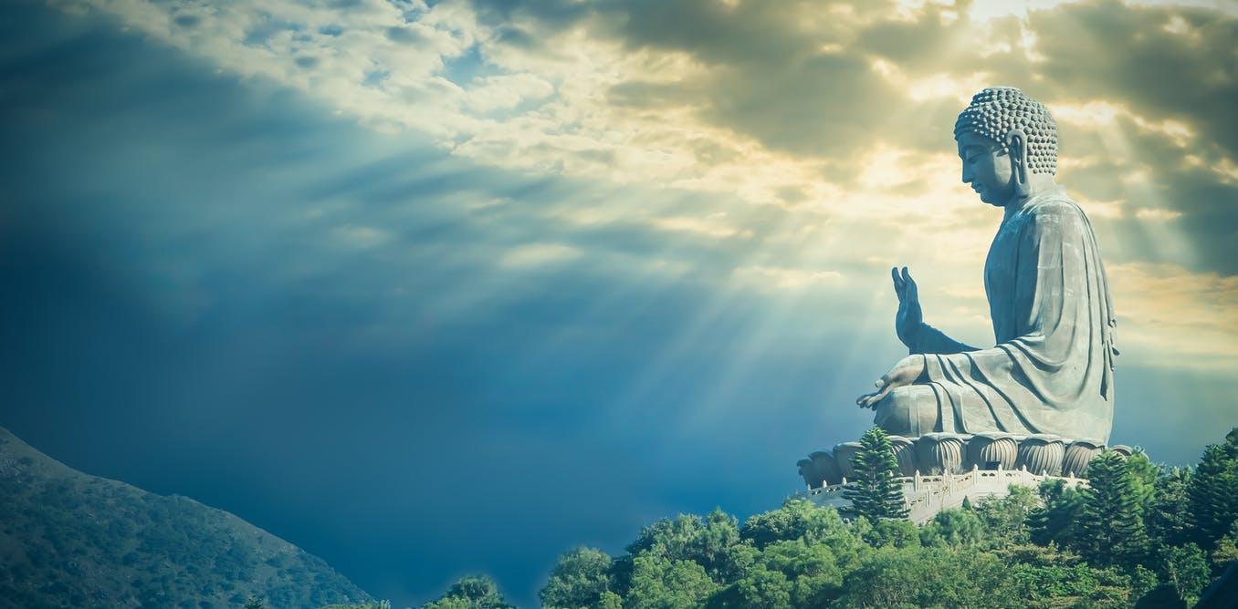 Hình ảnh Phật 3D và bầu trời