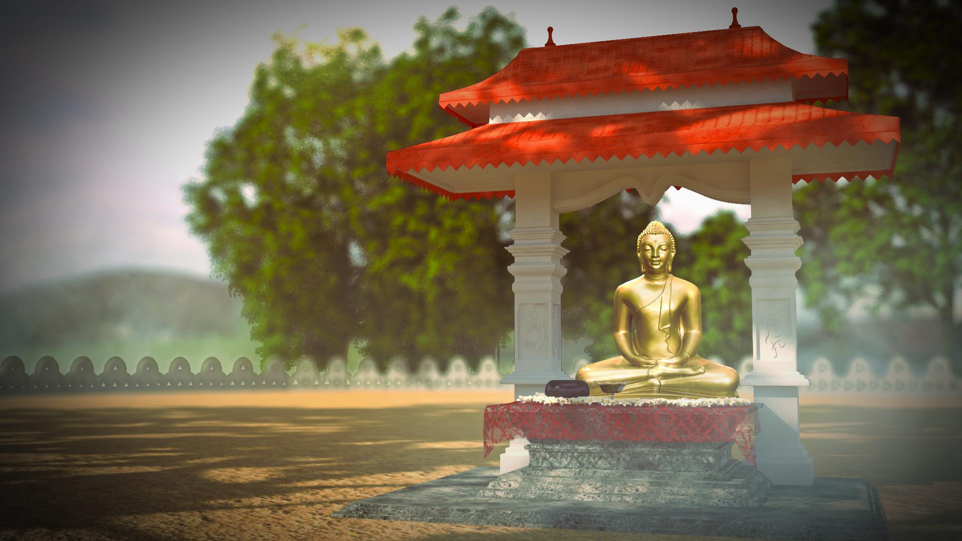 Hình ảnh tượng Phật 3D siêu đẹp