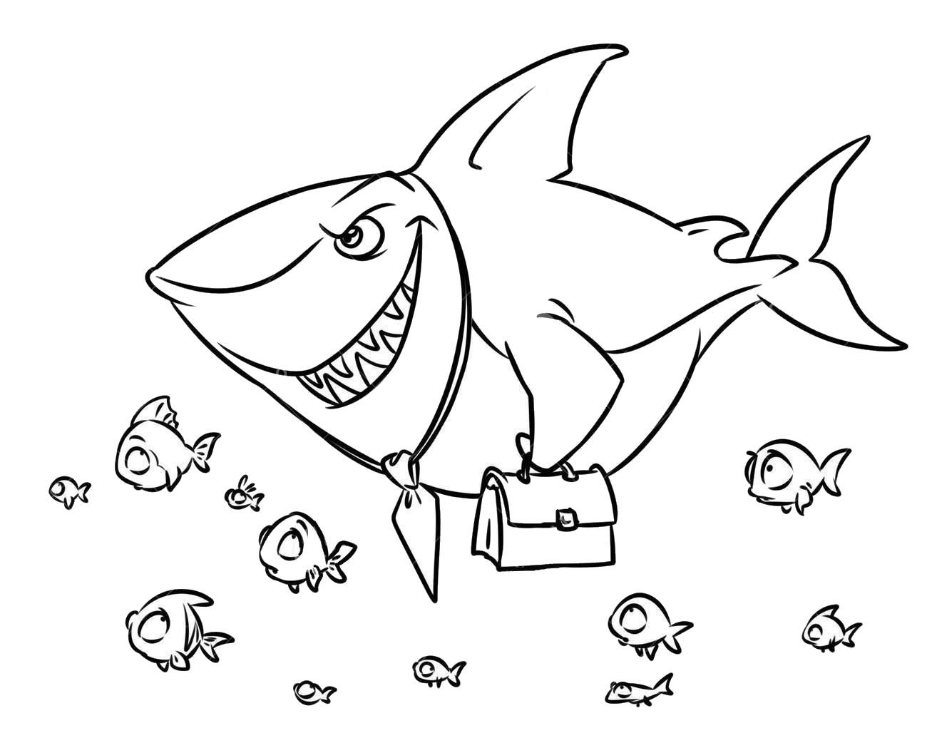 Hình tô màu cá mập đẹp nhất