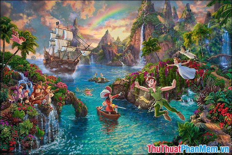 Neverland – thiên đường rực rỡ của sắc màu và ánh sáng