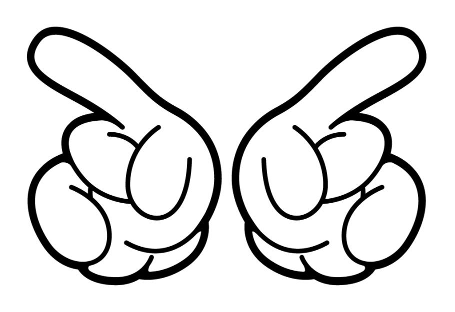 Tranh tô màu bàn tay cartoon