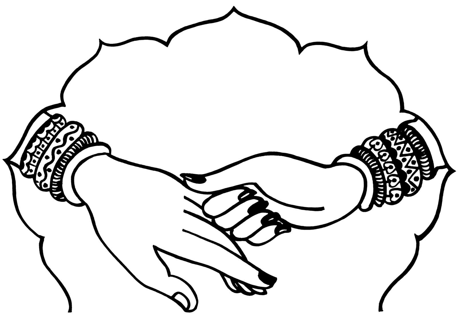 Tranh tô màu bàn tay phụ nữ
