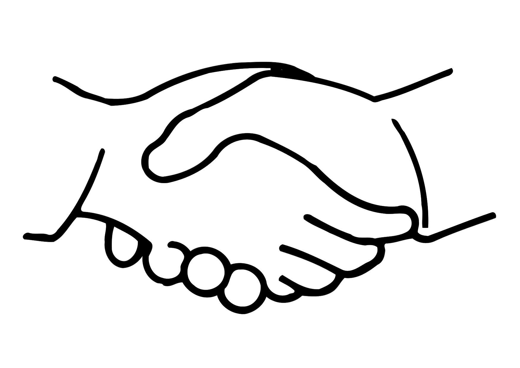 Tranh tô màu bắt tay đơn giản