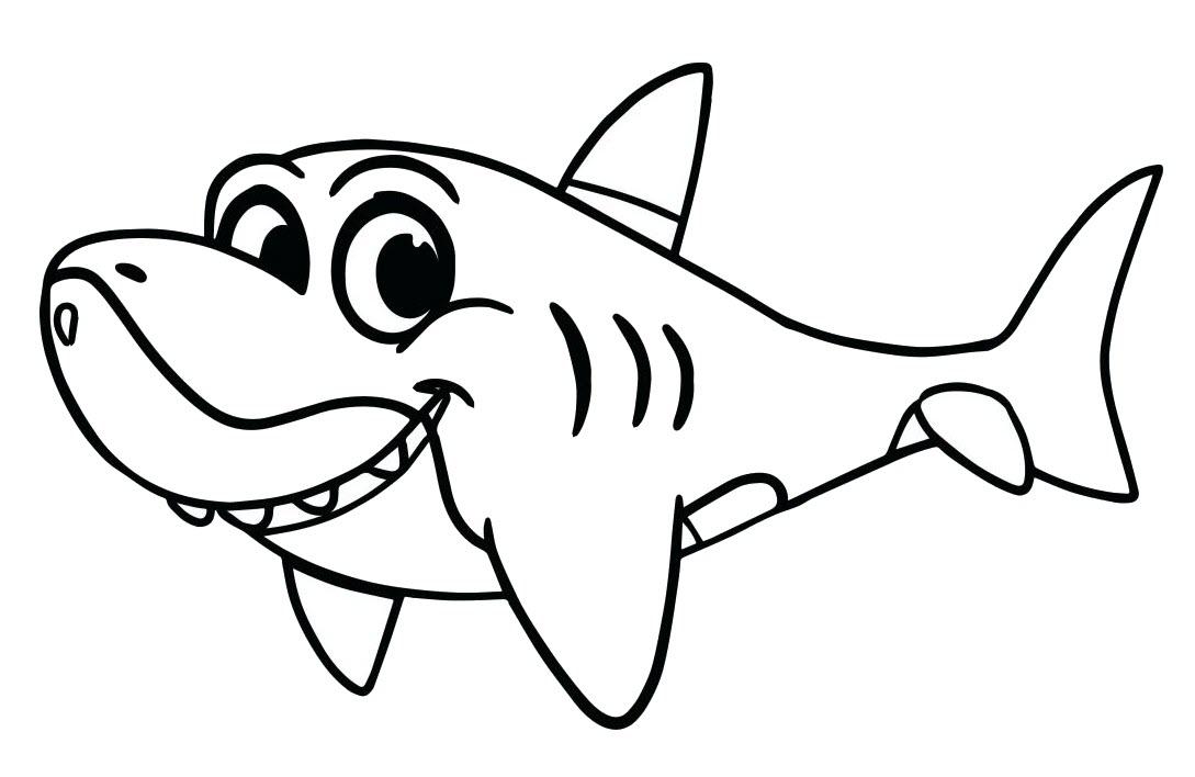 Tranh tô màu cá mập đẹp