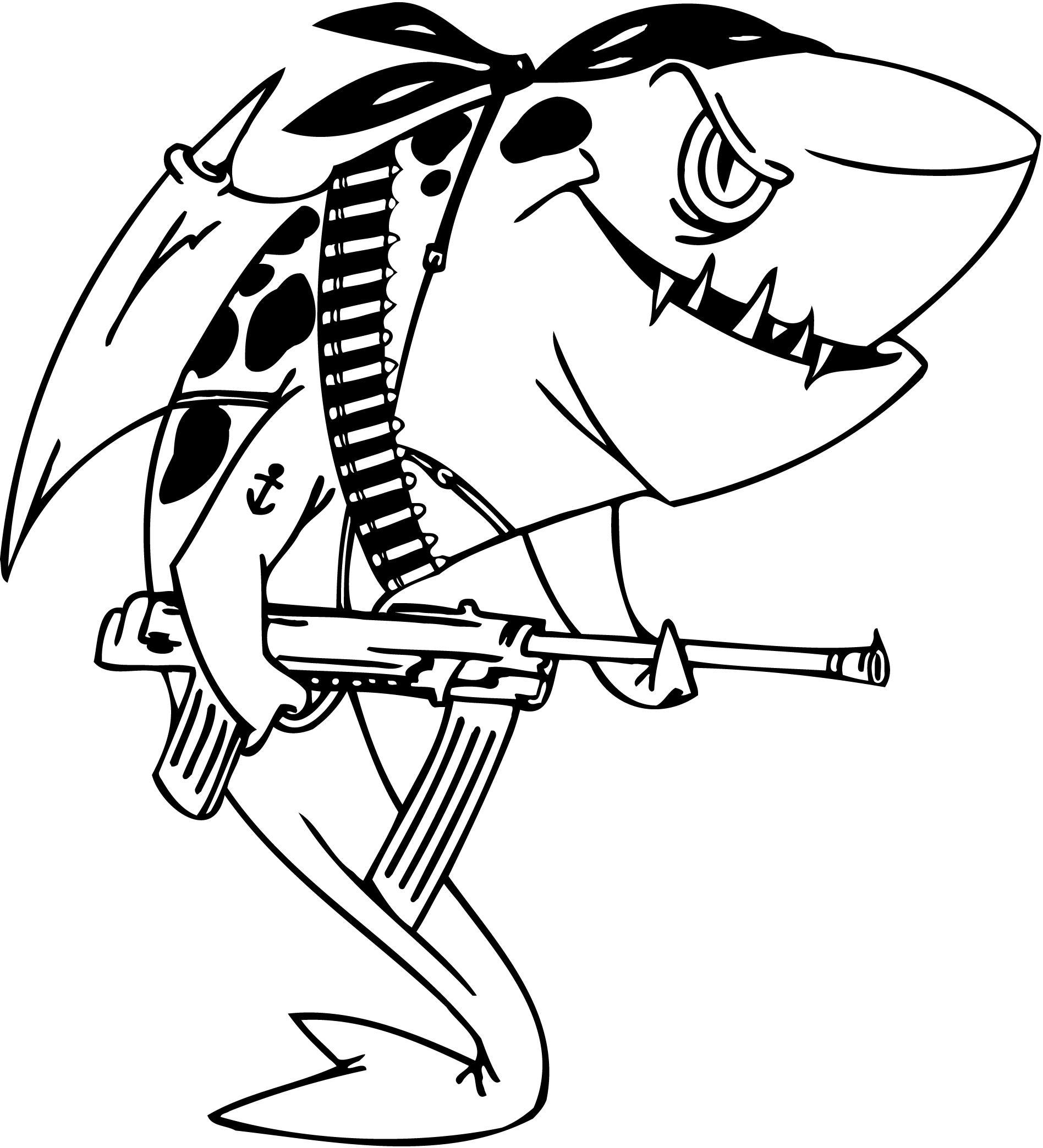 Tranh tô màu cá mập độc đáo