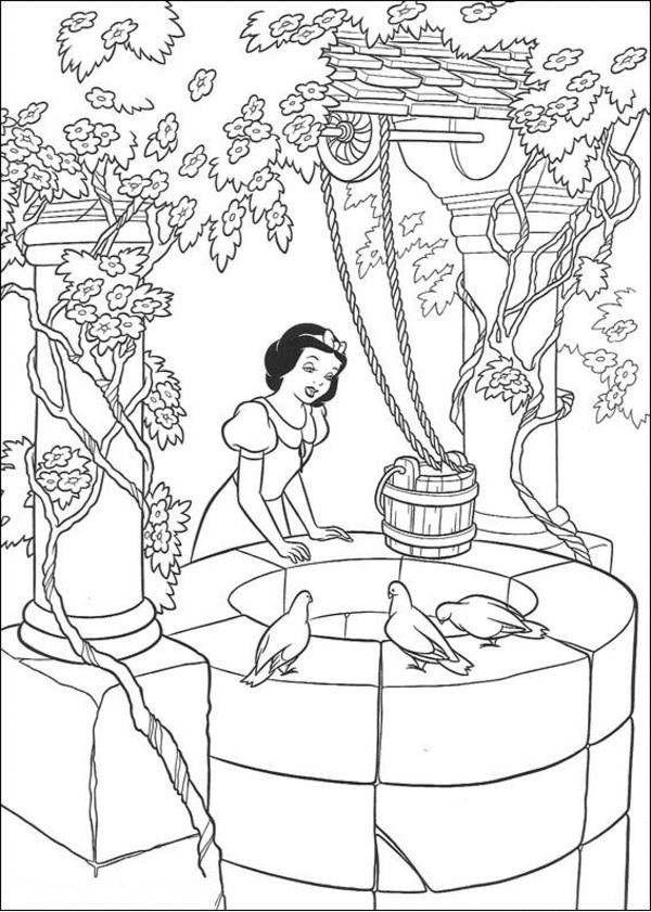 Tranh tô màu công chúa bạch tuyết cổ tích