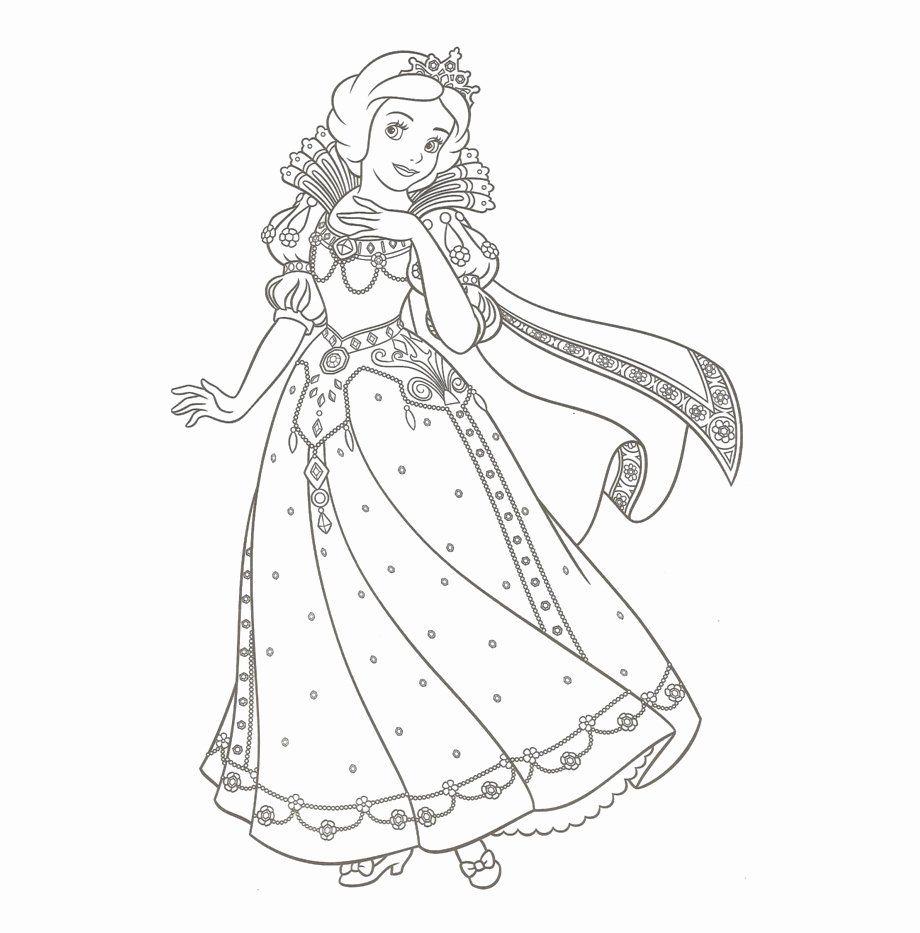 Tranh tô màu công chúa bạch tuyết dễ thương, xinh đẹp
