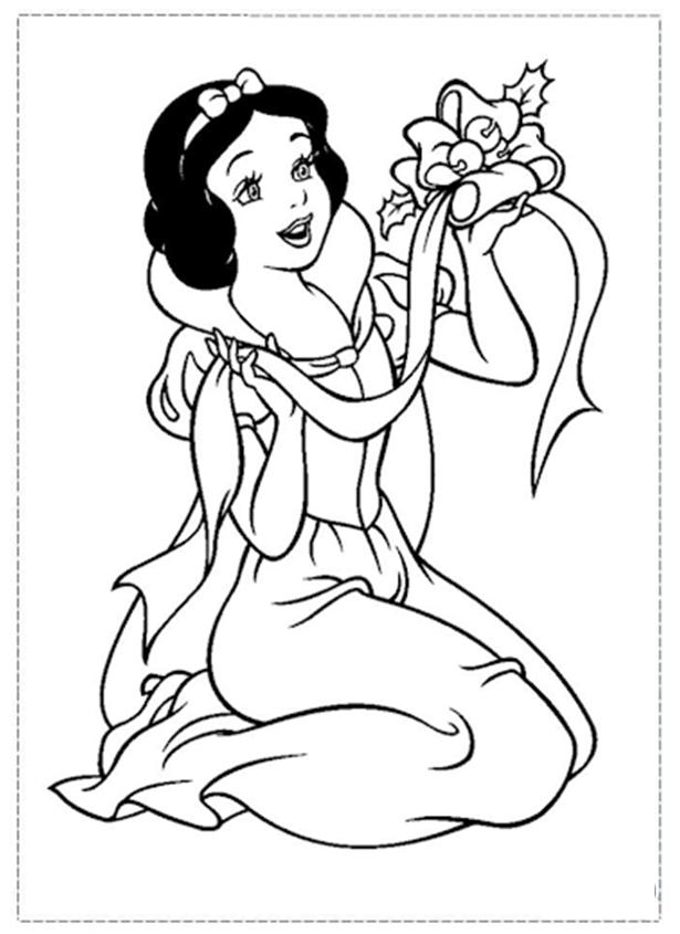Tranh tô màu công chúa bạch tuyết đẹp nhất