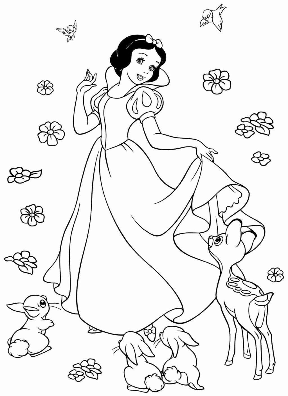 Tranh tô màu công chúa bạch tuyết và muôn loài