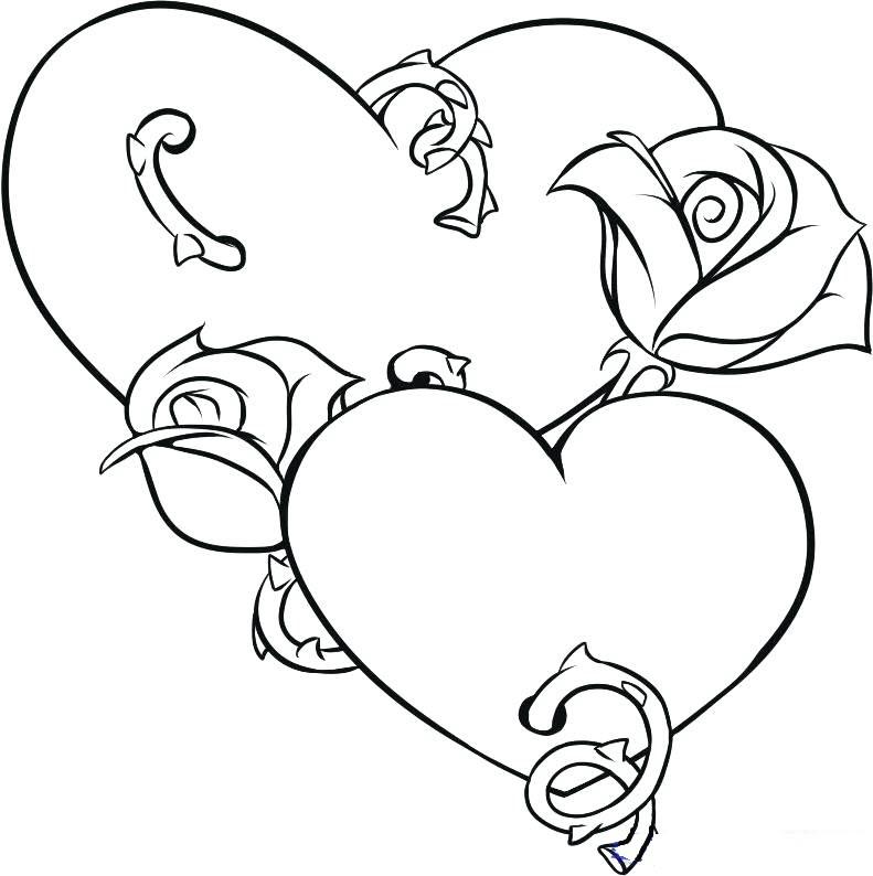 Tranh tô màu hình trái tim cho bé