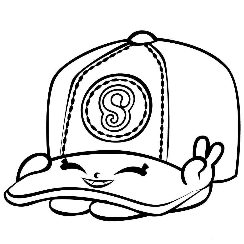 Tranh tô màu mũ bóng chày đáng yue