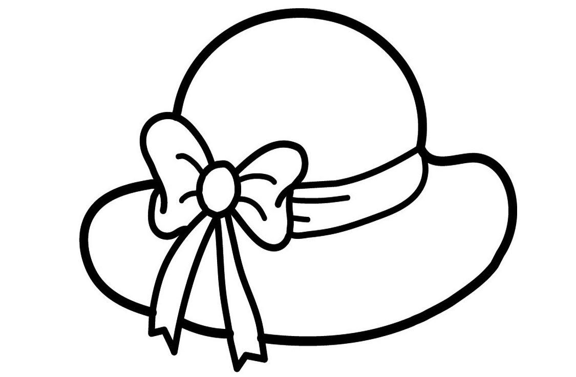 Tranh tô màu mũ có nơ