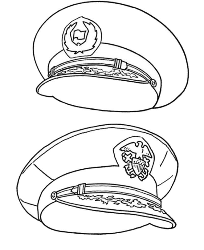 Tranh tô màu mũ của cảnh sát