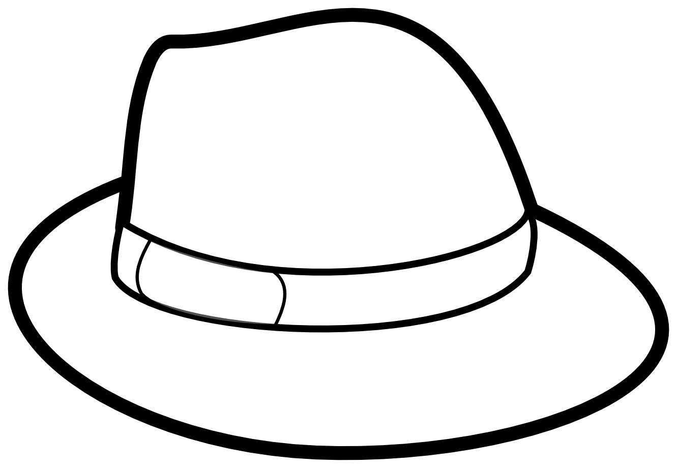 Tranh tô màu mũ đơn giản