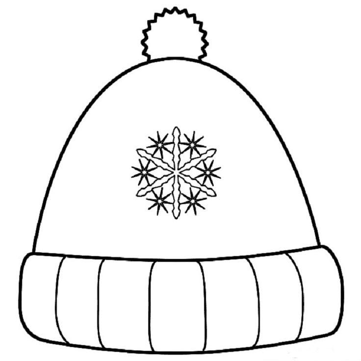 Tranh tô màu mũ len đơn giản