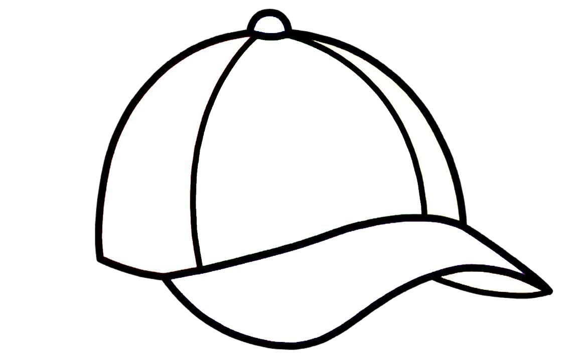 Tranh tô màu mũ lưỡi trai đơn giản