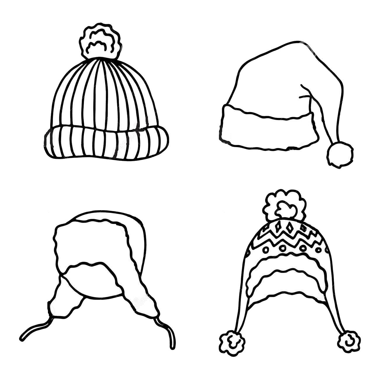 Tranh tô màu mũ mùa đông