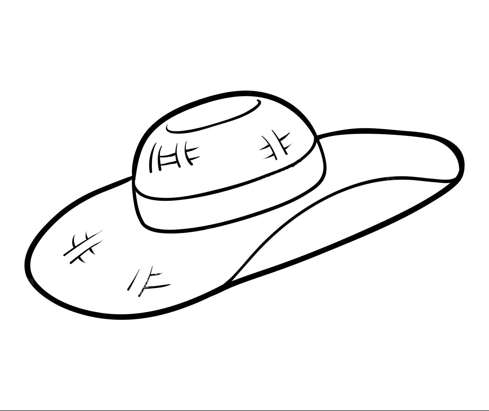 Tranh tô màu mũ nữ rộng vành