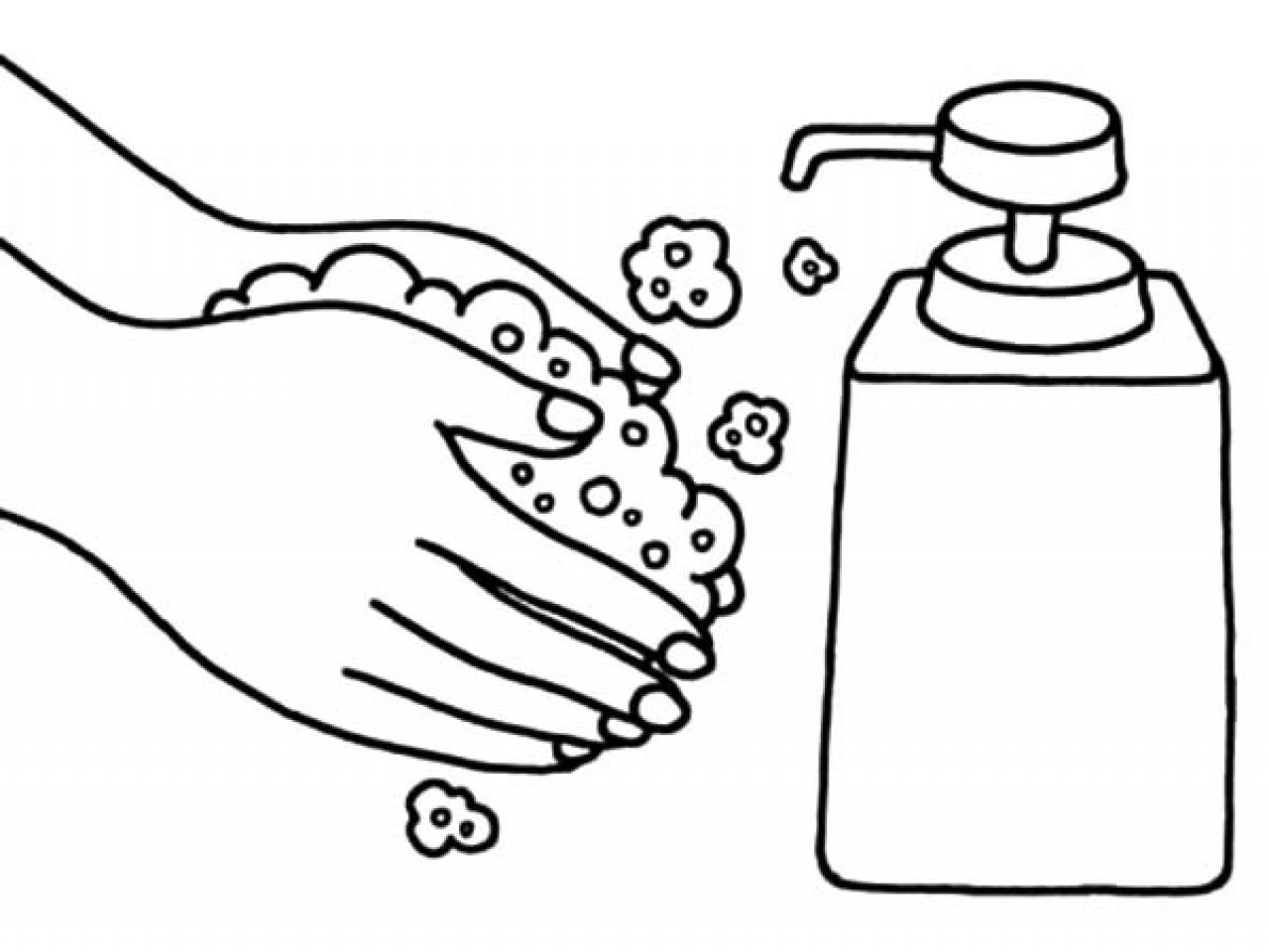 Tranh tô màu rửa tay