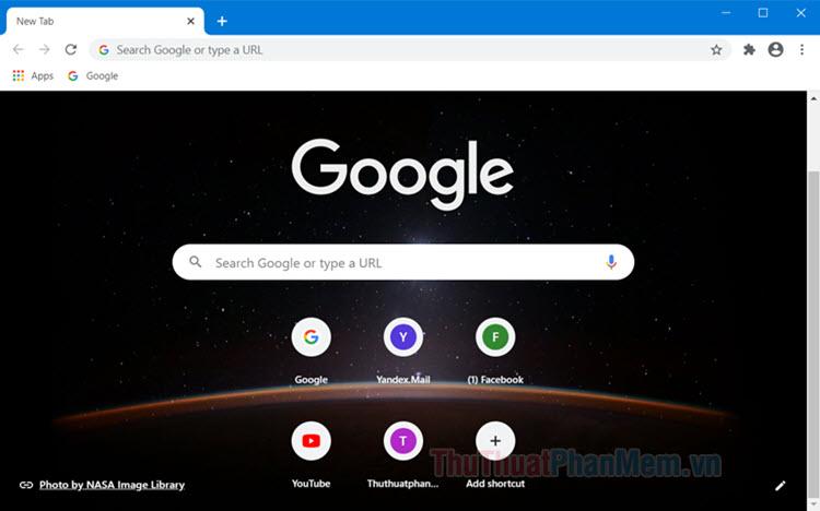 Cách thay đổi hình nền cho trình duyệt Chrome
