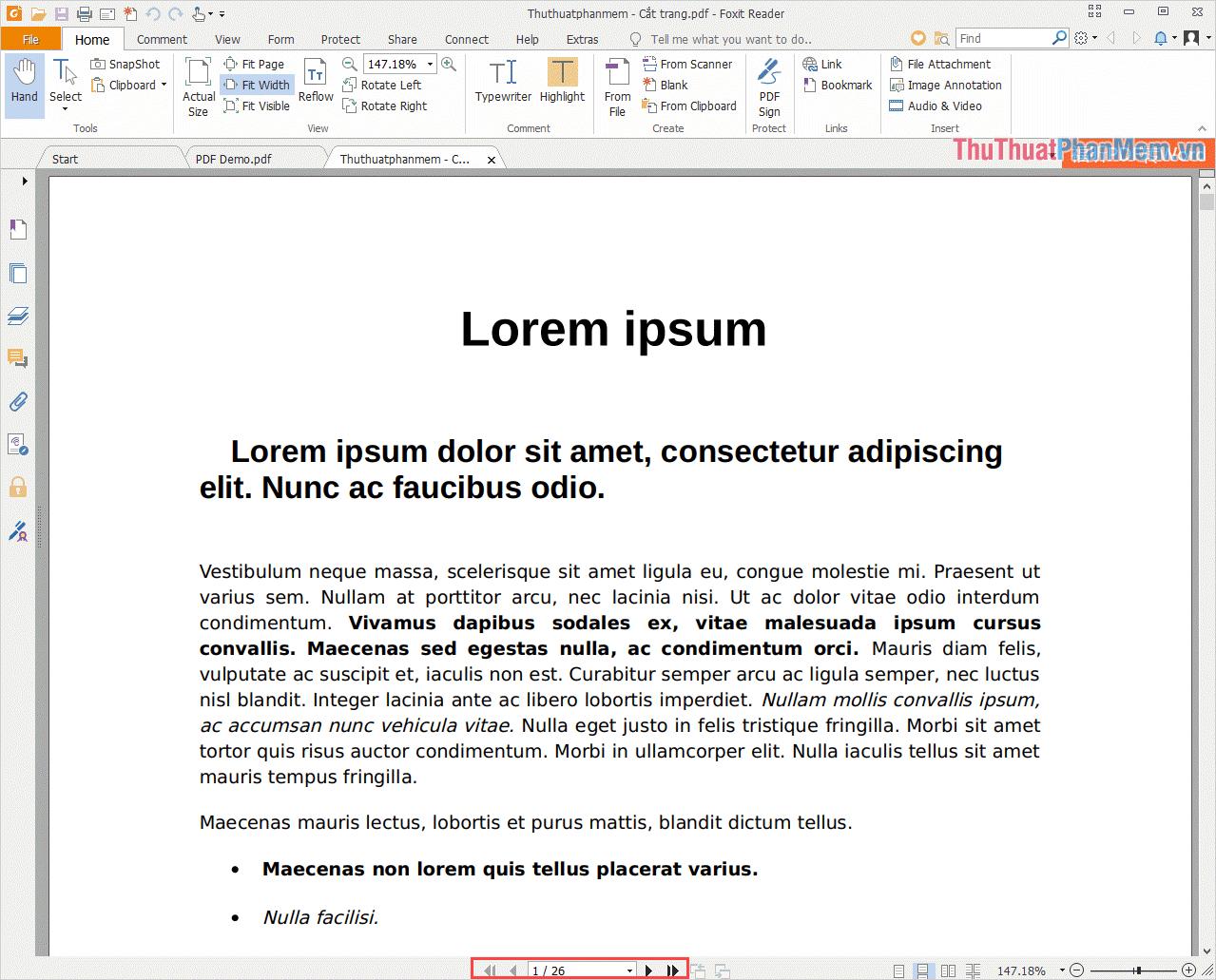 Kết quả là File PDF của chúng ta sau khi cắt xung chỉ còn có 26 trang thay vì 30 trang như trước đây
