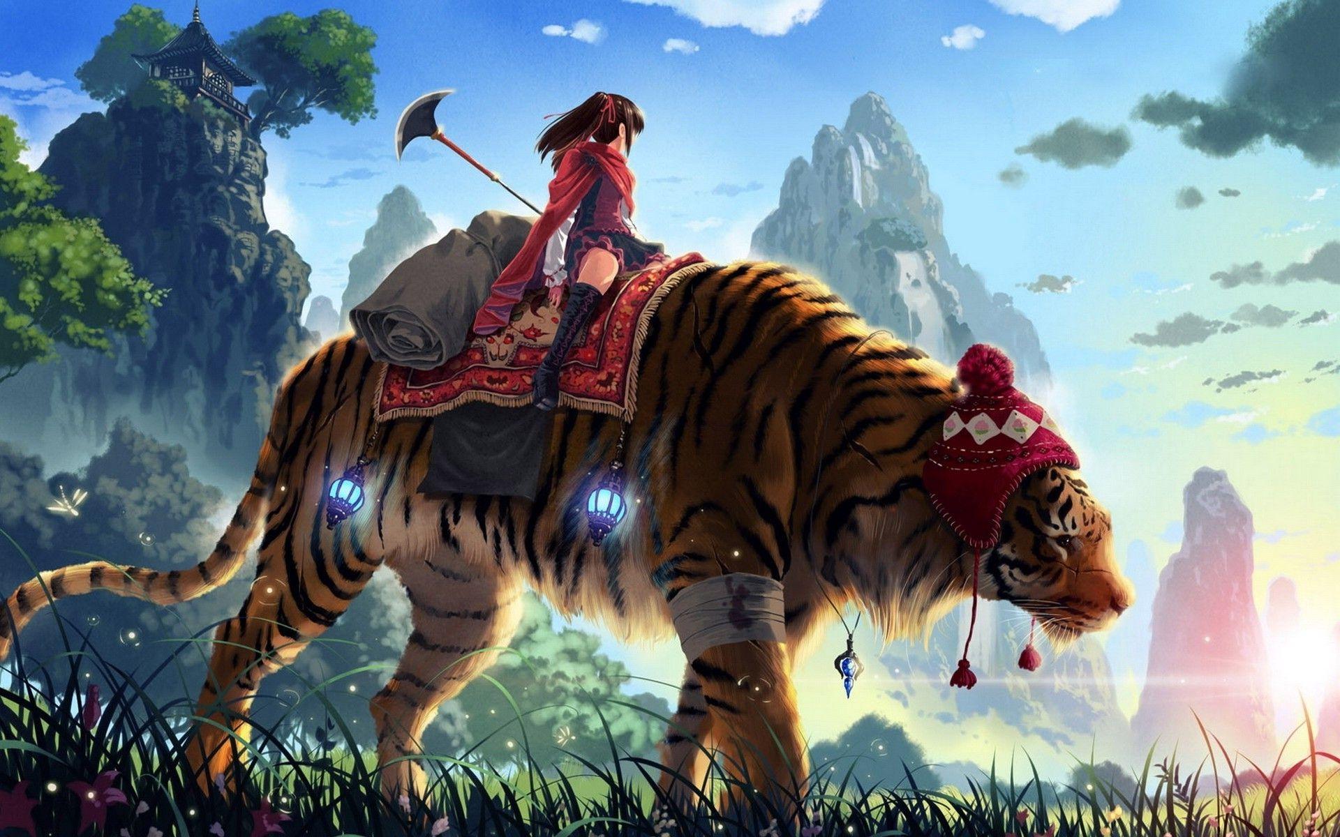 Ảnh anime con hổ