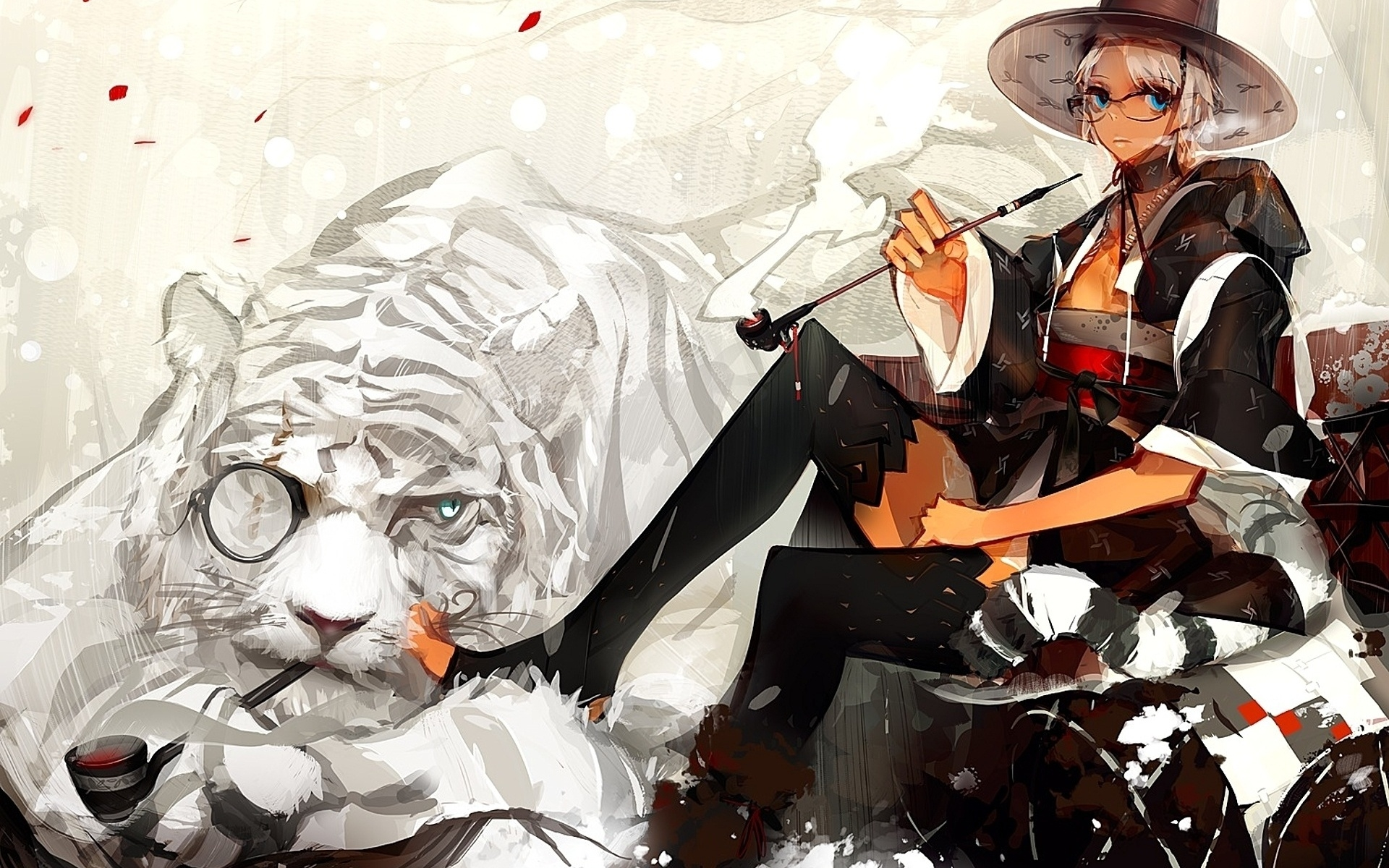 Ảnh con hổ anime cực ngầu