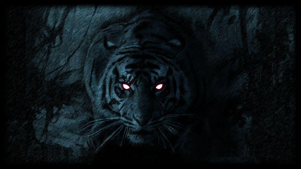 Ảnh con hổ trong bóng tối
