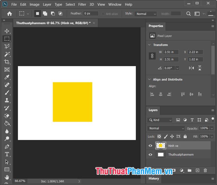Bạn đã có một mẫu hình vuông với màu nền độc đáo dành riêng cho bạn
