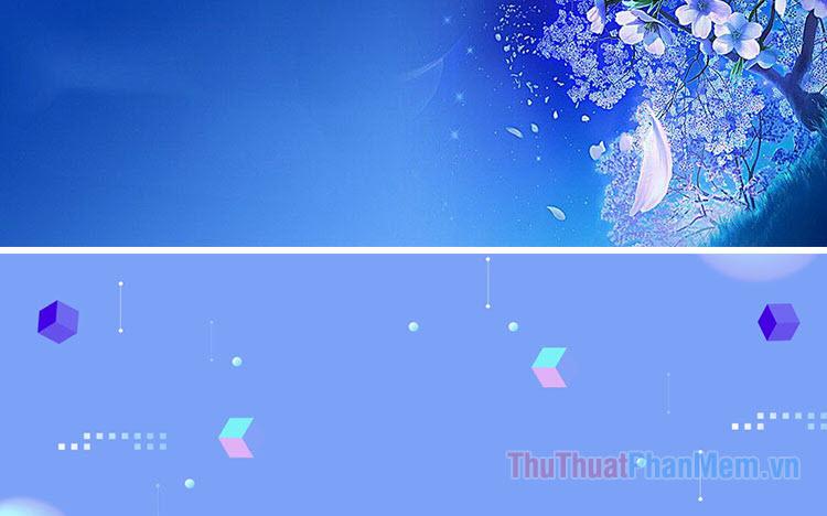 Banner blue đẹp