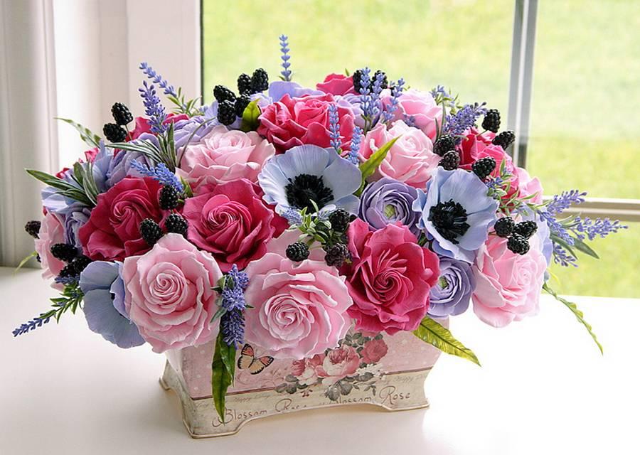 Hình ảnh giỏ hoa nhỏ xinh chúc mừng sinh nhật