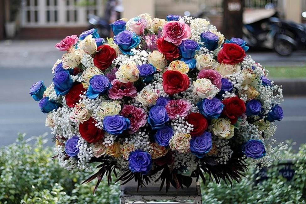 Hình ảnh lẵng hoa đẹp, độc, đắt