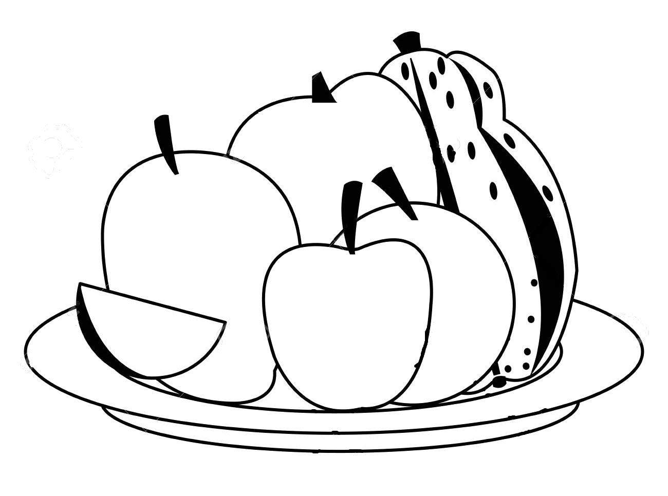 Tranh tô màu xoài và các loại quả khác