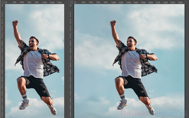 Cách mở rộng ảnh trong Photoshop