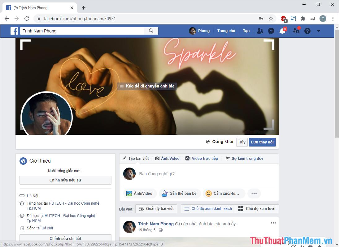 Sử dụng hình ảnh để đặt làm ảnh bìa Facebook