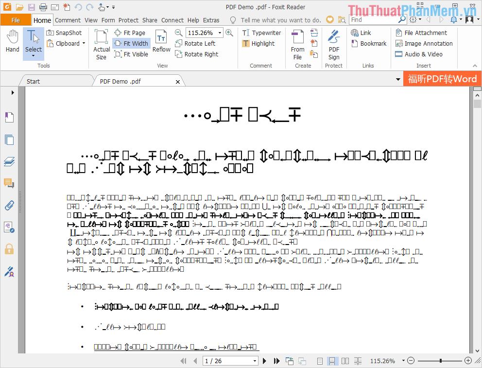 Để sửa lỗi Font chữ trên file PDF thì các bạn cần đến phần mềm soạn thảo Microsoft Word để chuyển đổi định dạng và sửa lỗi