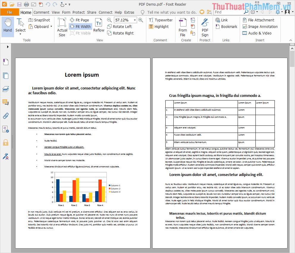 Mở file PDF bằng phần mềm Foxit Reader để kiểm tra