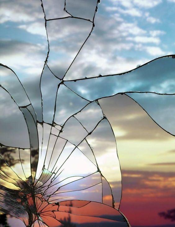 Ảnh nền gương màn hình vỡ