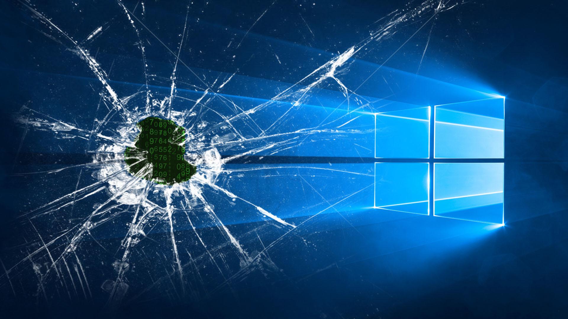 Ảnh nền vỡ màn hình máy tính