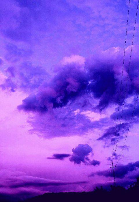 Background bầu trời màu tím