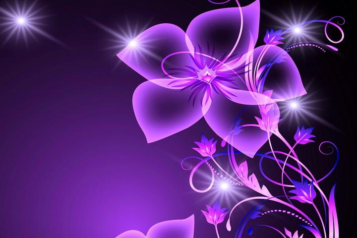 Background hoa tím độc đáo