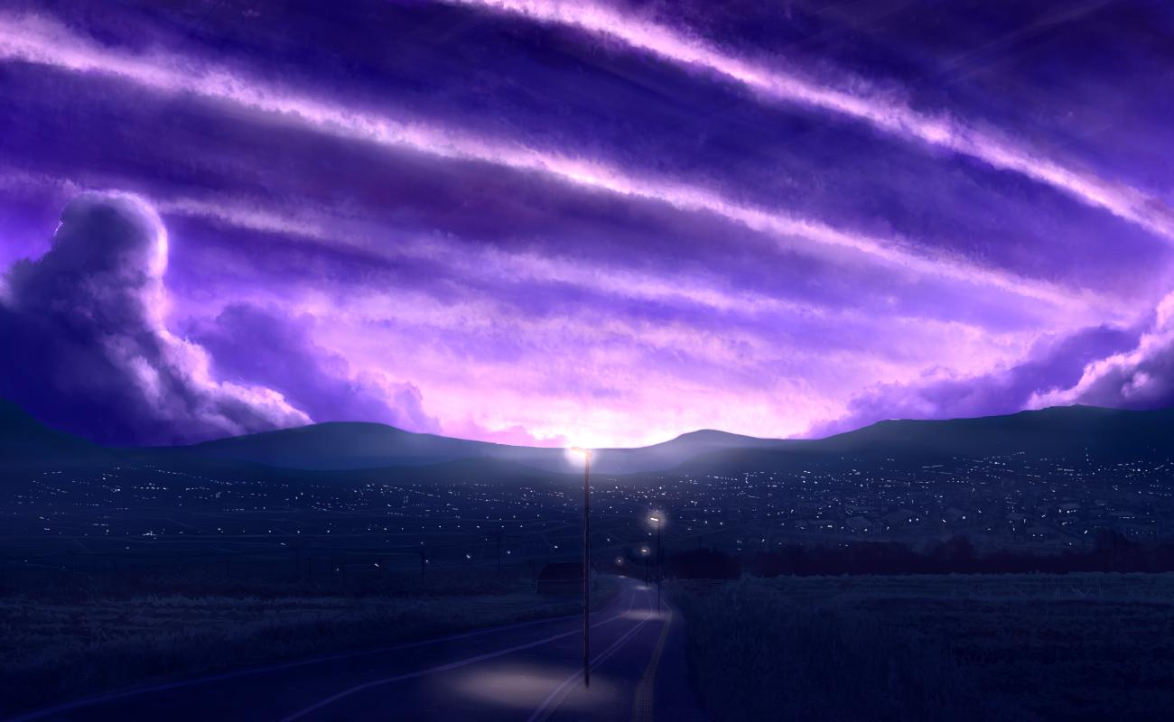 Hình ảnh background bầu trời tím