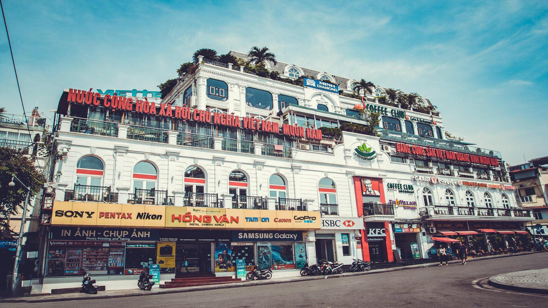 Hình nền phố Hà Nội hiện đại